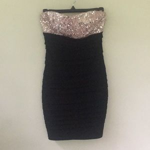 Ruby Rox Fitted Sequin Top Dress